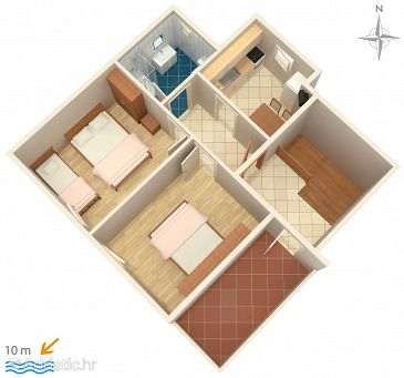 Apartment A-6425-a - Apartments Metajna (Pag) - 6425