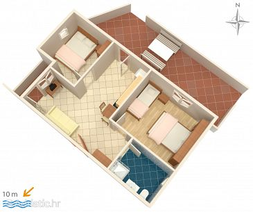 Apartment A-6425-b - Apartments Metajna (Pag) - 6425