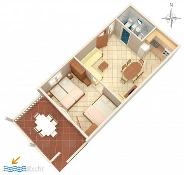 Apartment A-6426-b - Apartments Metajna (Pag) - 6426