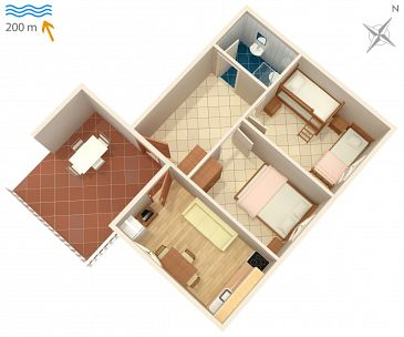 Apartment A-6426-d - Apartments Metajna (Pag) - 6426