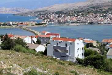 Property Pag (Pag) - Accommodation 6433 - Apartments with pebble beach.