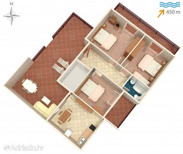 Apartment A-6434-a - Apartments Bošana (Pag) - 6434