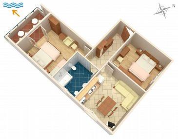 Apartment A-6445-b - Apartments Turanj (Biograd) - 6445