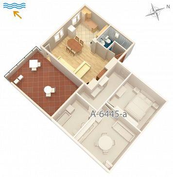 Studio AS-6445-a - Apartamenty Turanj (Biograd) - 6445