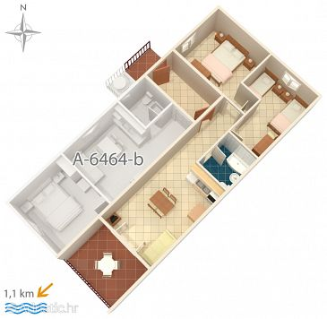 Apartment A-6464-a - Apartments Rabac (Labin) - 6464