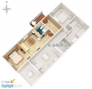 Apartment A-6464-b - Apartments Rabac (Labin) - 6464