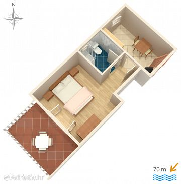 Apartment A-6469-b - Apartments Stara Novalja (Pag) - 6469