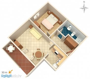 Apartment A-6471-d - Apartments Novalja (Pag) - 6471