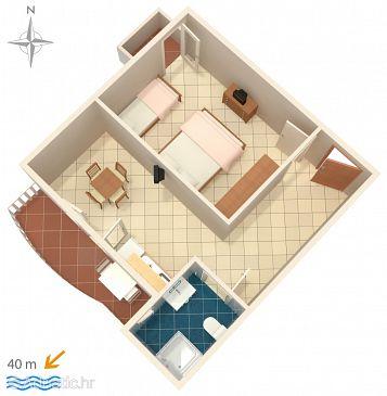 Apartment A-6498-e - Apartments Metajna (Pag) - 6498