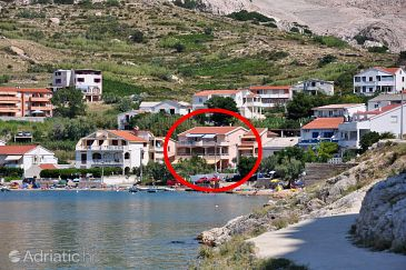 Property Metajna (Pag) - Accommodation 6503 - Apartments near sea with sandy beach.