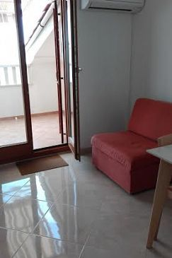 Mandre, Living room u smještaju tipa apartment, dostupna klima i WIFI.