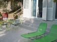 Pisak, Terrace u smještaju tipa studio-apartment, s pogledom na more i WIFI.