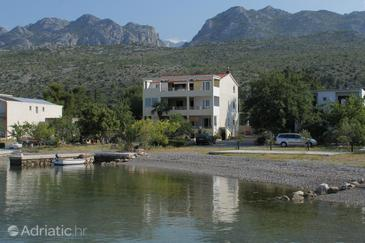Property Seline (Paklenica) - Accommodation 6528 - Apartments near sea with pebble beach.