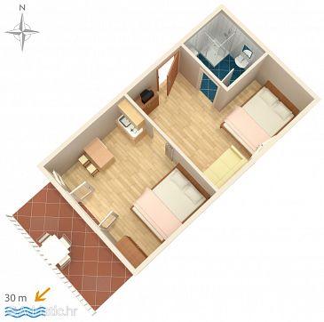 Studio flat AS-6533-a - Apartments Starigrad (Paklenica) - 6533