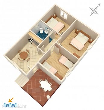 Apartment A-656-a - Apartments Mimice (Omiš) - 656