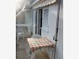 Mimice, Balcony u smještaju tipa studio-apartment, s pogledom na more i WIFI.