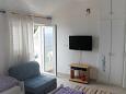 Mimice, Bedroom u smještaju tipa studio-apartment, dostupna klima i WIFI.