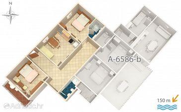 Apartment A-6586-c - Apartments Starigrad (Paklenica) - 6586