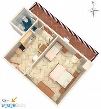 Starigrad, Plan u smještaju tipa apartment, WIFI.