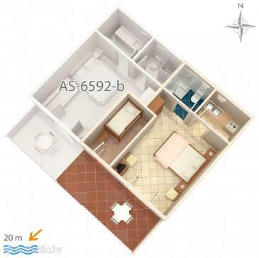 Studio flat AS-6592-a - Apartments Starigrad (Paklenica) - 6592