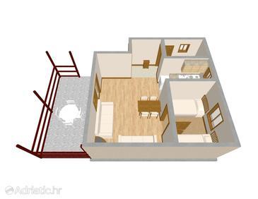 House K-662 - Vacation Rentals Postup (Pelješac) - 662