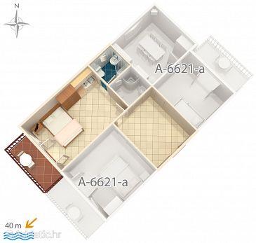 Studio flat AS-6621-c - Apartments Starigrad (Paklenica) - 6621