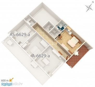Studio flat AS-6629-b - Apartments Seline (Paklenica) - 6629