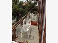 Starigrad, Balcony u smještaju tipa room.