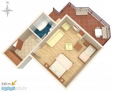 Studio flat AS-6644-b - Apartments and Rooms Makarska (Makarska) - 6644