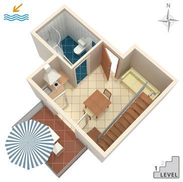 Studio AS-6661-b - Apartamenty Gradac (Makarska) - 6661