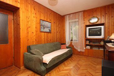Drvenik Donja vala, Living room u smještaju tipa apartment.