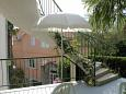 Podgora, Terrace 1 - view u smještaju tipa apartment, dopusteni kucni ljubimci i WIFI.