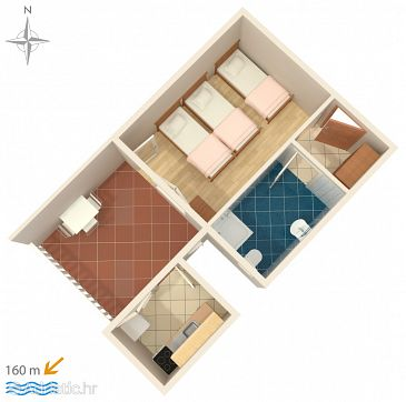 Apartment A-6678-e - Apartments Zaostrog (Makarska) - 6678