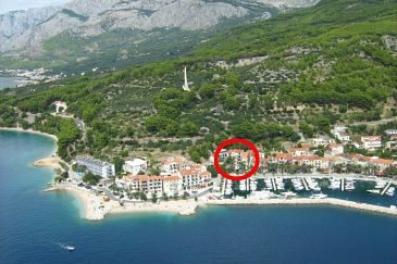 Property Podgora (Makarska) - Accommodation 6705 - Apartments near sea with pebble beach.