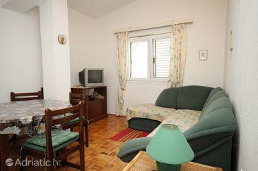 Baška Voda, Living room u smještaju tipa apartment, dopusteni kucni ljubimci i WIFI.