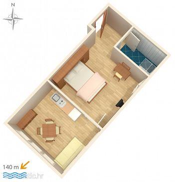 Apartment A-6750-b - Apartments Promajna (Makarska) - 6750
