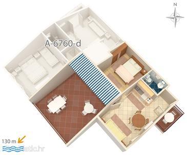 Apartment A-6760-c - Apartments Promajna (Makarska) - 6760