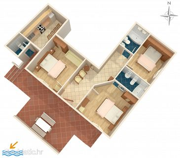 Apartment A-6767-b - Apartments and Rooms Makarska (Makarska) - 6767