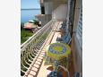 Podgora, Balcony u smještaju tipa apartment, s pogledom na more, dopusteni kucni ljubimci i WIFI.