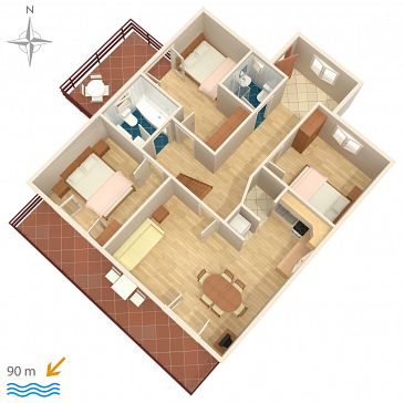 Apartament A-6803-a - Apartamenty Drašnice (Makarska) - 6803