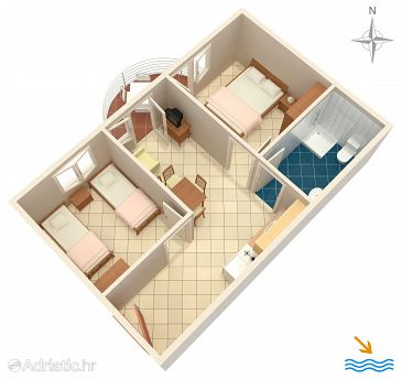 Apartment A-6863-e - Apartments Rastići (Čiovo) - 6863