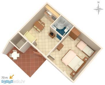 Apartment A-6869-c - Apartments Baška Voda (Makarska) - 6869