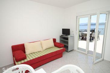 Živogošće - Porat, Living room u smještaju tipa apartment, dopusteni kucni ljubimci i WIFI.