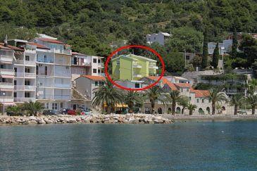 Obiekt Živogošće - Porat (Makarska) - Zakwaterowanie 6876 - Apartamenty blisko morza ze żwirową plażą.