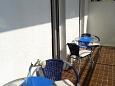 Gradac, Balcony u smještaju tipa studio-apartment, s pogledom na more, dopusteni kucni ljubimci i WIFI.