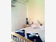 Gradac, Bedroom u smještaju tipa studio-apartment, dostupna klima, dopusteni kucni ljubimci i WIFI.