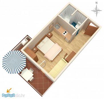 Studio flat AS-6909-a - Apartments and Rooms Makarska (Makarska) - 6909