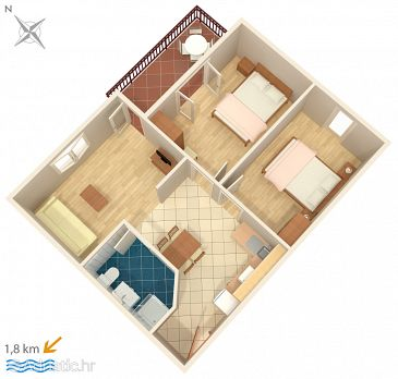 Apartment A-6951-c - Apartments and Rooms Novigrad (Novigrad) - 6951