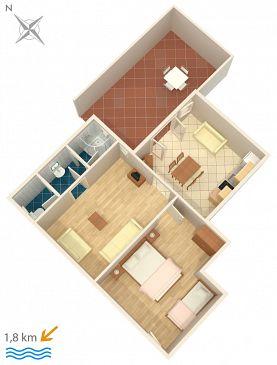 Apartament A-6951-d - Kwatery Novigrad (Novigrad) - 6951