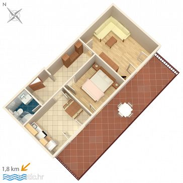 Apartment A-6951-g - Apartments and Rooms Novigrad (Novigrad) - 6951